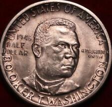 1946-D Denver Mint Booker T Washington  Silver Comm Half