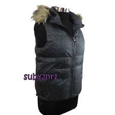 Coach Ocelot Leopard Print Faux Fur Puffer Hooded Vest F85176 Size Small