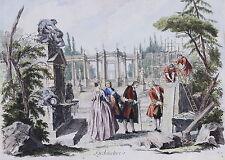 Originaldrucke (bis 1800) aus Frankreich mit Architektur-Motiv