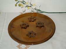 Kerzenteller Stern groß für 4 Kerzen Keramik Kerzenhalter Handarbeit getöpfert