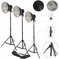Illuminatore da Studio Lampada DayLight Kit 3x 450W a Luce Continua x Foto Video