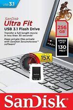 SanDisk 256GB Ultra Fit USB 3.1 Flash Drive - SDCZ430-256G-G46 - NEW