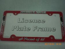 License Plate Frame, American Indian and Proud of It!, Red