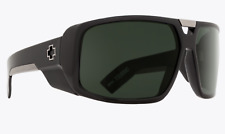 NEW Spy Touring Sunglasses-Black Gloss-Happy Grey Green Lens-SAME DAY SHIPPING!
