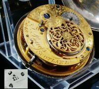 Antique Silver Verge Pocket Watch, J Berrefs Scotland, London 1811