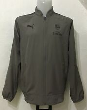 ARSENAL 2017/18 GREY CASUAL PERFORMANCE JACKET BY PUMA SIZE ADULTS MEDIUM NEW