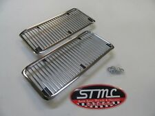 1968 1969 68 69 EL CAMINO SS NEW PAIR OF CHROME HOOD GRILL INSERTS BEST QUALITY