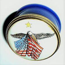 Halcyon Days Enamel Box - United States Flag & Eagle - Democratic Convention