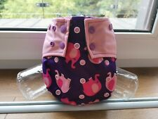 Reusable Washable Cloth Nappy with bamboo charcoal insert - Elephant print