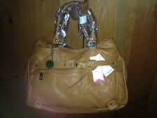 R&EM Jimmy Hobo Shoulder Bag Large Soft Luggage Brown Yellow Gold NWT $115