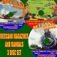COLLECTION OF EVERY MECCANO MAGAZINE PUBLISHED AND 400 MANUALS PLANS 3 DVDS NEW