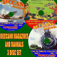 Collection de chaque MECCANO MAGAZINE publié et 400 manuels plans 3 DVDs NOUVEAU