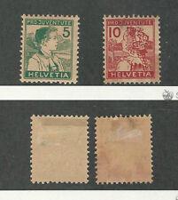 Switzerland, Postage Stamp, #B2-B3 Mint Hinged, 1915