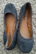 WORN ONCE Lucky Brand Emmie Round Toe Ballet Flats 5.5 charcoal gray flannel