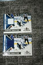 MIKE SMITH 2010-11 PANINI ALL GOALIES STOPPER SWEATERS PATCH LOT 2 COLORS