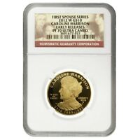 2012 W 1/2 oz $10 First Spouse - Caroline Harrison Gold Coin NGC PF 70 UCAM