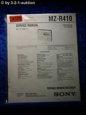 Sony Service Manual MZ R410 Mini Disc Recorder (#4326)
