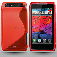 Funda Flexi Gel Grip Roja Motorola Droid Razr Carcasa TPU Flexible Diseño S