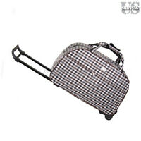 Rolling Wheeled Duffle Bag Briefcase Trolley Travel Suitcase Carry On Luggage