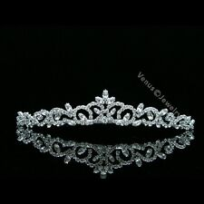 Bridal Princess Rhinestones Crystal Flower Wedding Tiara Crown 7463