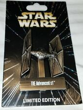 Disney Pin Star Wars TIE Advanced x1 Pin of the Month Limited Edition w/Stand