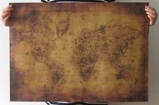 Large Vintage Style Decorative Retro Paper Poster Antique World Map treasure map