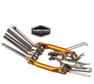 11 in 1 Multitool multi attrezzi MTB bici ripara smaglia catena chiave esagonale