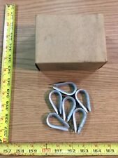 "Wire Rope Thimbles 1/4"" Box Of 25 Hot Galvanized"