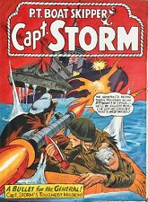 MIKE MALL  WWII NAVY Capt. STORM 1965 Original COVER PAINTING Pin-Up and NAVAL