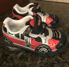 Stride Rite Fire Truck Red Light Up Toddler Shoes Size 6.5 M