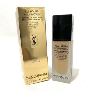 YSL ALL HOURS FOUNDATION -BD40 Warm Sand  -SPF 20 FLAWLESS MATTE .84oz Authentic