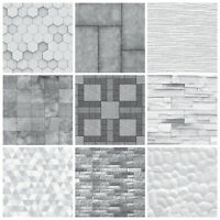 Tile Stickers Mosaic Marble Stone Effect Grey Tones - MS1