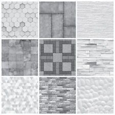 Tile Stickers Transfers Mosaic Marble Stone Effect Greys Kitchen Bathroom - MS1
