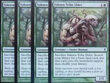 XXX 4x Sakura-Tribe Elder inglese Conspiracy (SNAKE GREEN) NM/MINT XXX XXX XXX