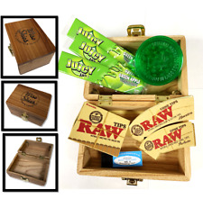 Rolling Smoking Box Gift Set Grinder Cone Tips Filter Tips Rolling Papers Juicy
