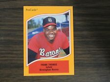 1990 Pro Cards #46 Frank Thomas Card Chicago White Sox / Birmingham Barons (B67)