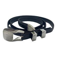 """Vintage Sterling Silver Native Belt buckle Set UNCLE SAM W. 47"""""""