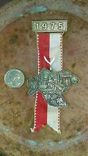 Vintage Oktoberfest Hiking German Bavarian 1975 KITZINGEN FRANKEN Ribbon Hat Pin