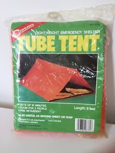 Coghlan's Tube Tent Emergency Survival Shelter 8 Ft Long Room for 2 Persons