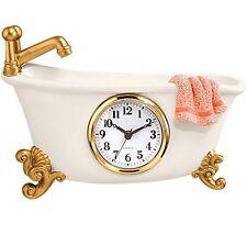 Small Clock For Bathroom Clawfoot Tub Bathtub Wall Bath Decorative Vintage Retro