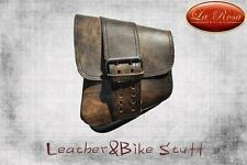 La Rosa All HD Softail/Rigid Frame Leather Left Swingarm Bag-Rustic Brown