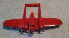Wyandotte Vintage Original Pressed Steel Airplane WWll 1940's P38 Bomber