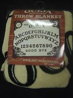 Ouija Board Evil Ghost Spirit Game Mystifying Oracle Plush Fleece Throw Blanket