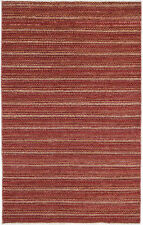 4X6 Hand-Knotted Gabbeh Carpet Modern Red Fine Wool Area Rug D43404