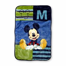 MIckey Mouse Baby Boy Korean Mink Plush Blanket Throw 30x40-M is for Mickey NEW