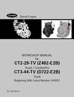 Carrier CT2-29-TV,CT3-44-TV Truck Comfortpro Diesel Engine Workshop Manual (B379
