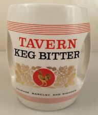 VINTAGE TAVERN KEG BITTER HCW DRINKING GLASS MUG made in GREAT BRITIAN