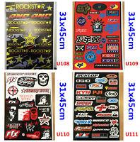4 X Sticker Decals Sheets Car Motorcycle Motorcross PIT TRAIL DIRT QUAD BIKE ATV