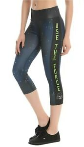 """NEW Star Wars Athletic Capris Leggings """"Use The Force"""" Darth Vader Small Yoga"""
