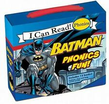 BATMAN PHONICS FUN I Can Read beginner boxed Set Superheros NEW children's books
